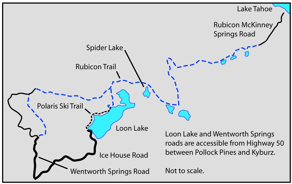 Map of Rubicon Trail